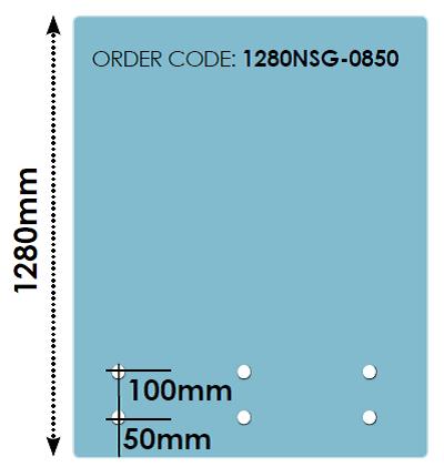 1280mm Top Rail Stand Off Glass Panels 12mm Fully Frameless - Hand Rail Cap Over Range
