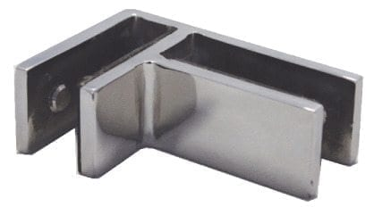 Rigi 90 Degree Corner Glass To Glass S/S Clamp