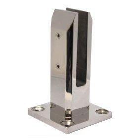 Empire S/S 316 Square Spigot w/base plate & Polish or Satin