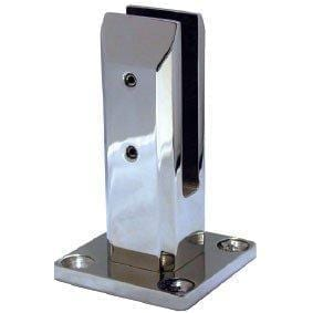 Merdrid SS2205 Square Spigot With Base Plate & Slimline Domical Cover - Polish