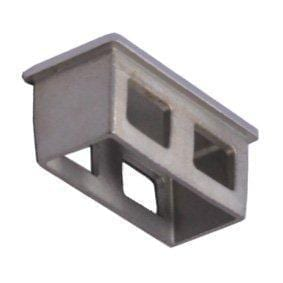 50 x 25mm Rectangle End Cap