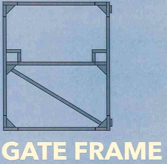 Gate Frame 1800mm Wide x 1200mm High