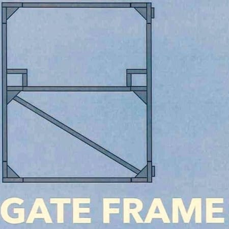 Gate Frame 1100mm Wide x 1800mm High