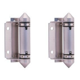 Sq.Post/Wall - Glass SS Spring Hinge Kit - Polish