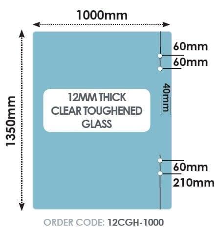 Hinge 1000mm x 1350mm x 12mm