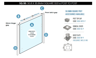 SQ 50 Post to Post