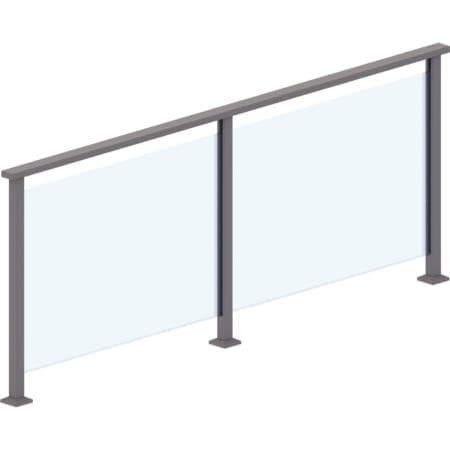 10mm - 850mm High Heat Soaked Glass Panels for 2 Edge System