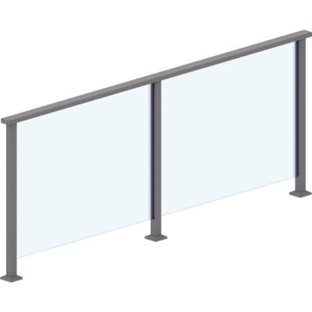 10mm - 950mm High Heat Soaked Glass Panels for 3 Edge System